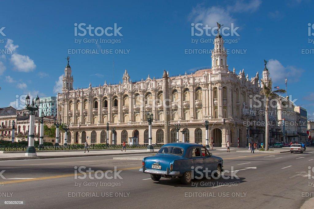 Paseo del Prado in Havana stock photo