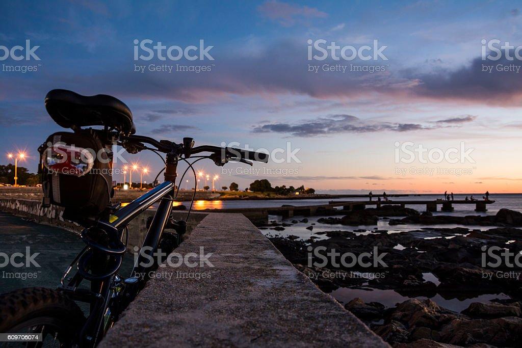 Paseo en bicicleta stock photo
