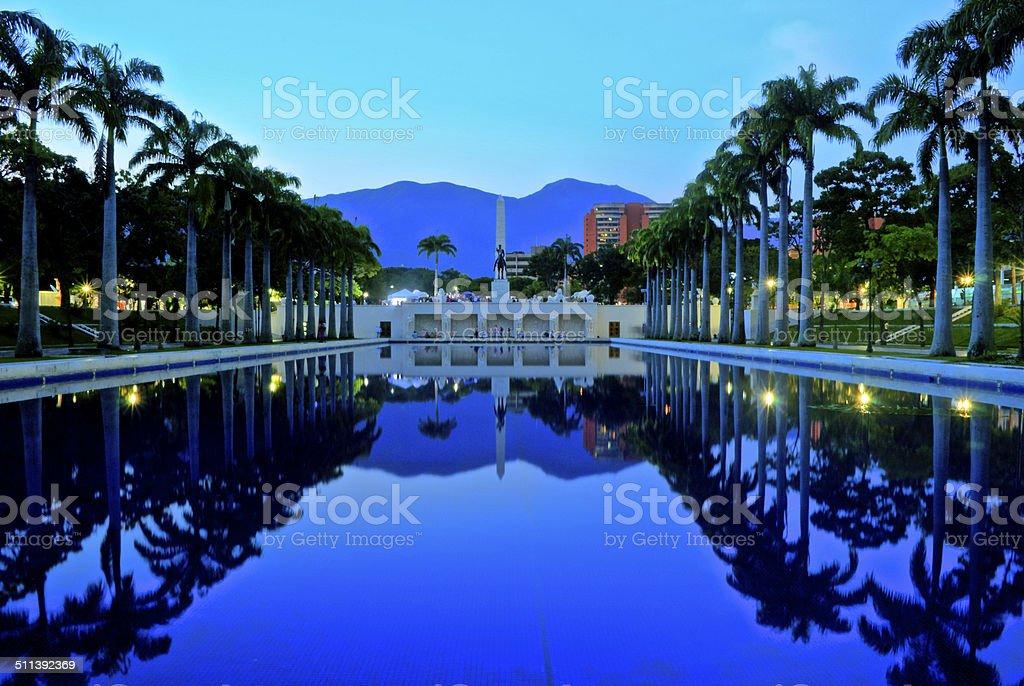 Paseo Los Proceres Caracas stock photo