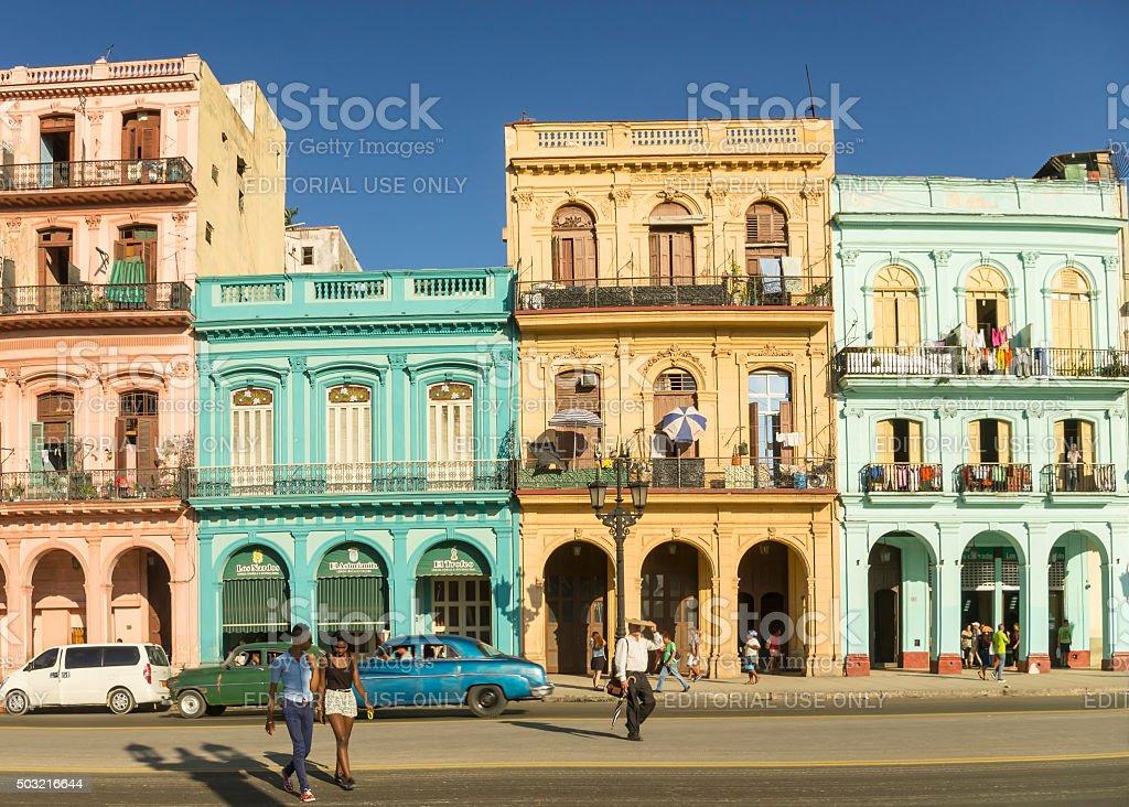 Paseo Marti in Havana Cuba stock photo
