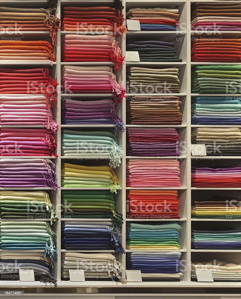 Pashmina shelf royalty-free stock photo