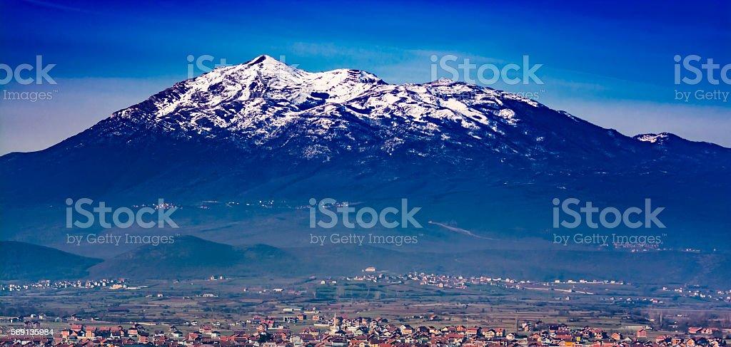 Pashtrik Mountain of Balkans stock photo