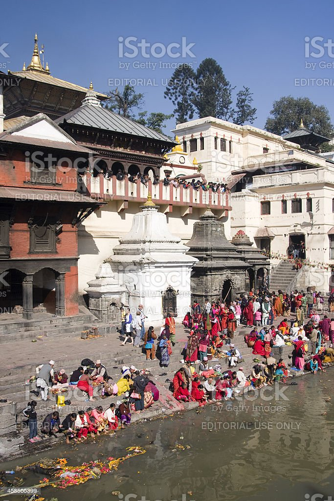 Pashupatinath Hindu temple stock photo