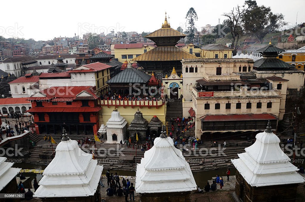 Pashupatinath Temple is one of the most significant Hindu temple stock photo