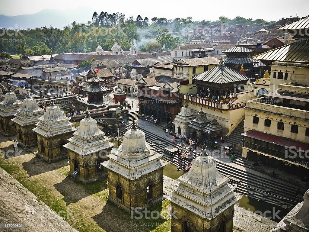 Pashupatinath Temple Kathmandu stock photo