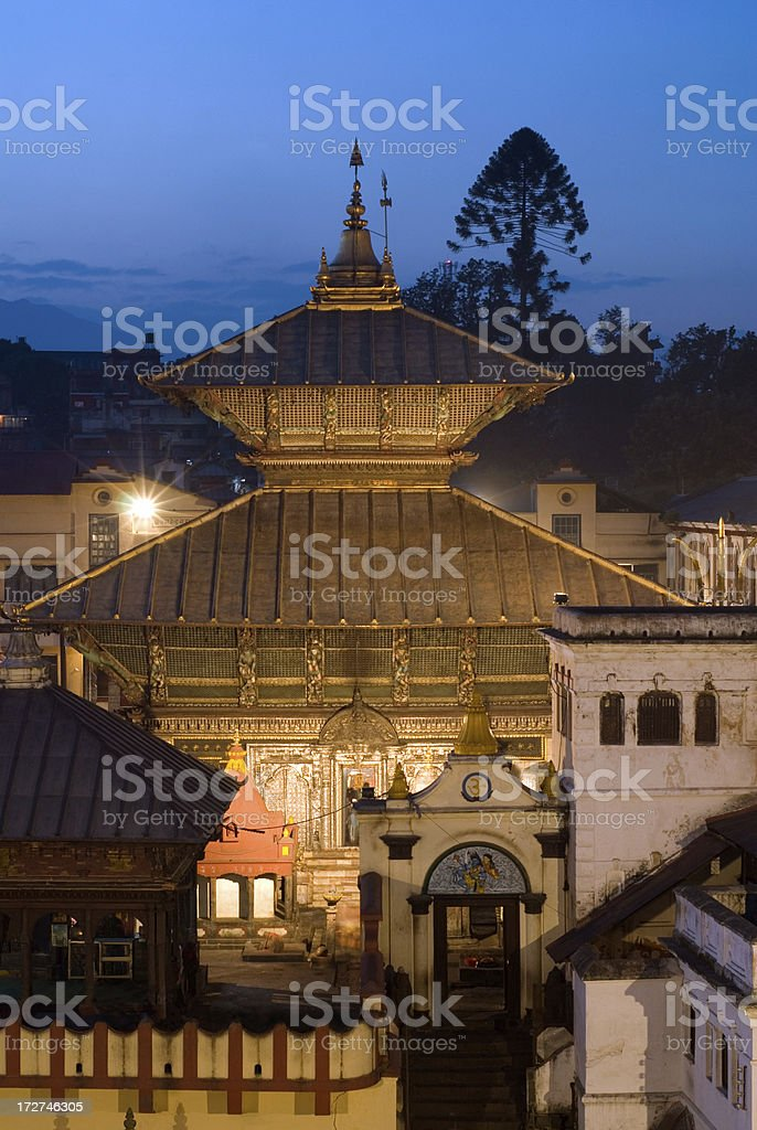 Pashupatinath temple royalty-free stock photo