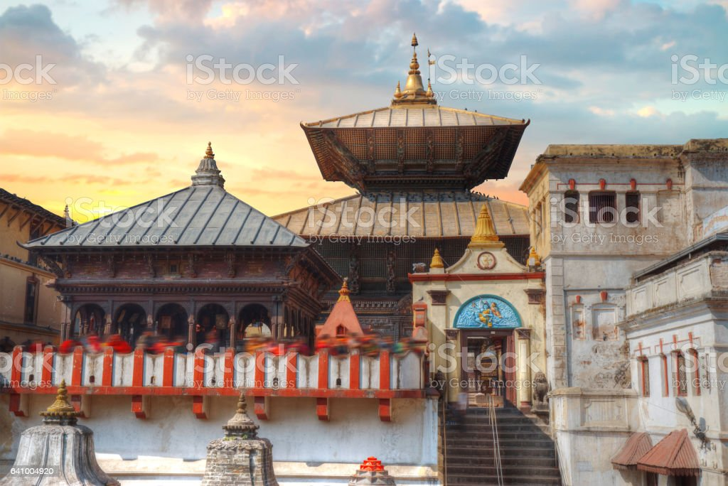 Pashupatinath Temple stock photo