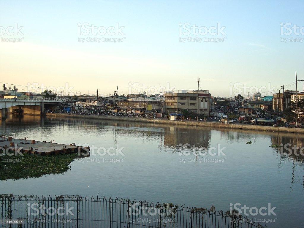 Pasig river and Binondo district, Manila - Philippines royalty-free stock photo