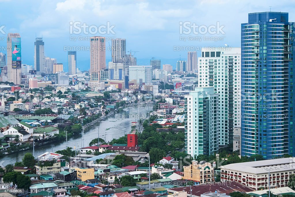 pasig river makati manila the philippines royalty-free stock photo