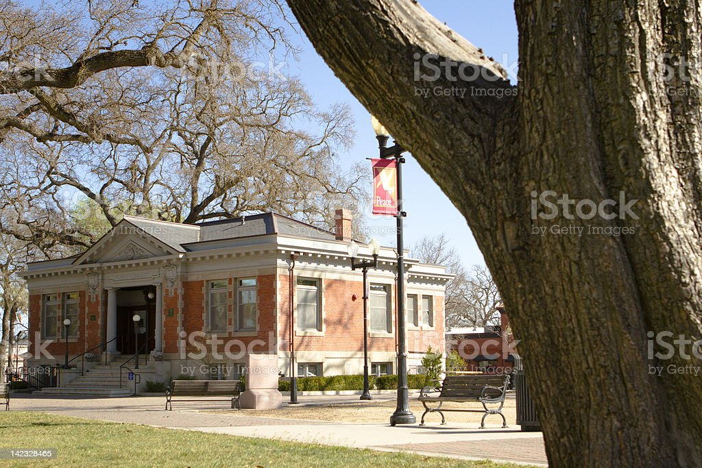 Paso Robles Carnegie Library stock photo
