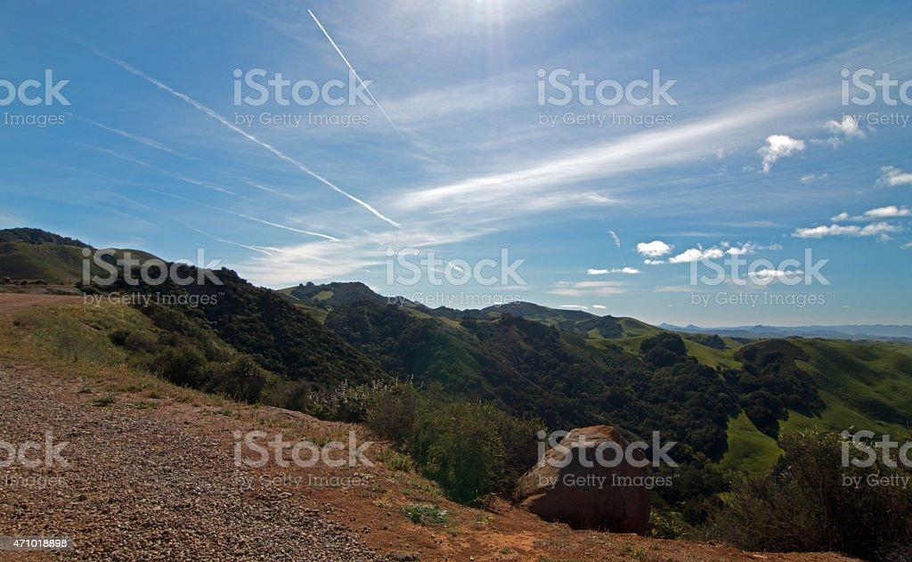 Paso Robles Mountain Pass Ocean View stock photo