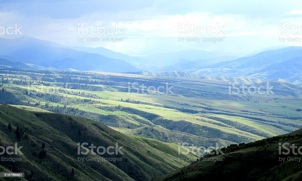Pass Above Whitebird, Idaho, Western US stock photo