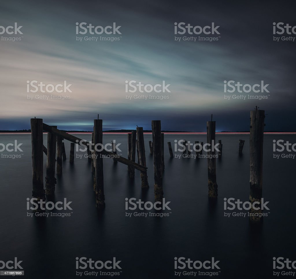 Pass by the Pier royalty-free stock photo