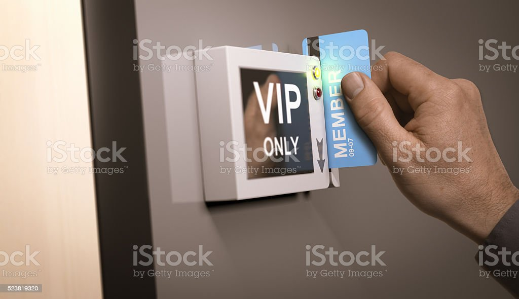 VIP Pass, Exclusive Access stock photo