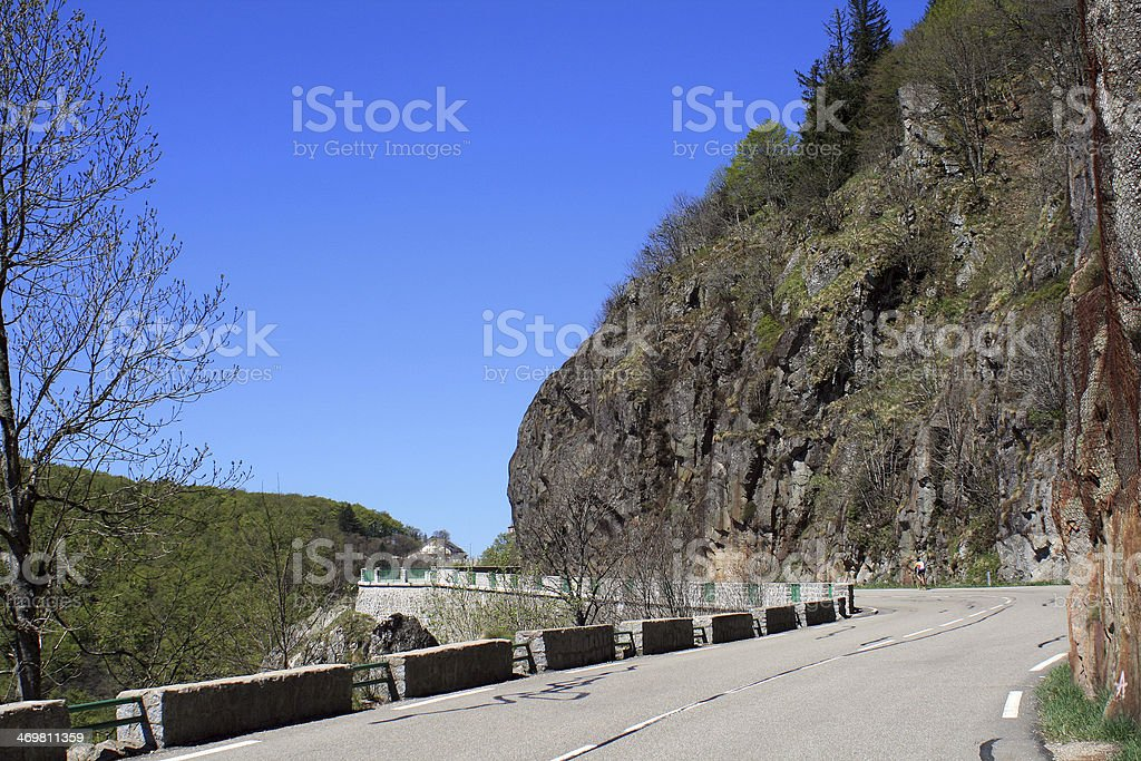 Pass of Schlucht, Alsace stock photo