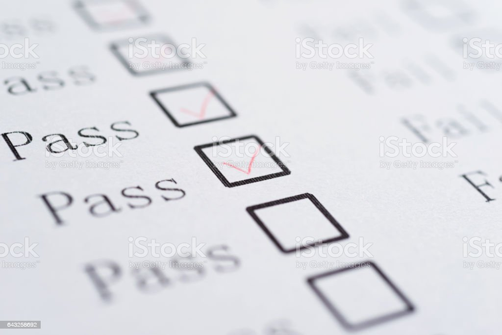Pass or Fail stock photo