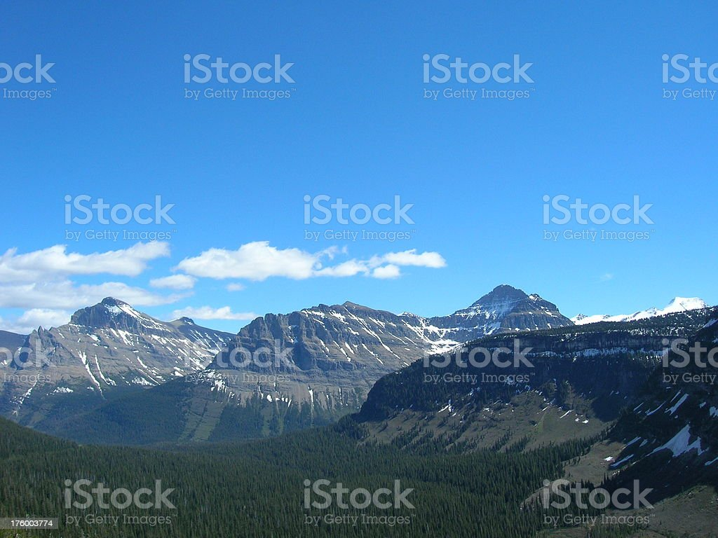 Pass over Going to the Sun Road royalty-free stock photo