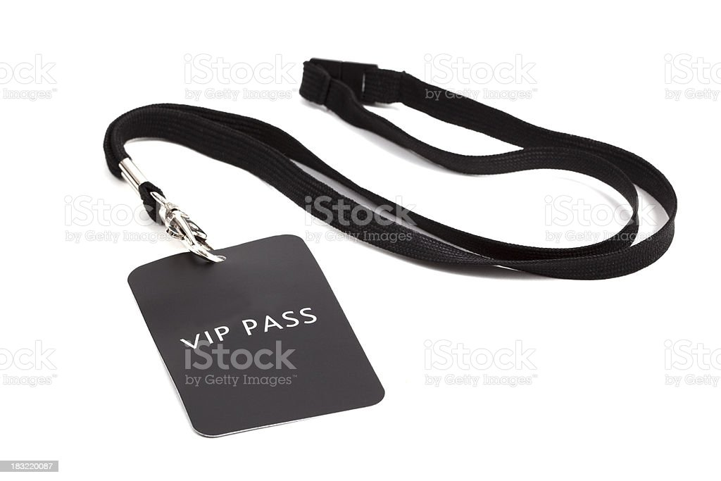 V.I.P pass royalty-free stock photo