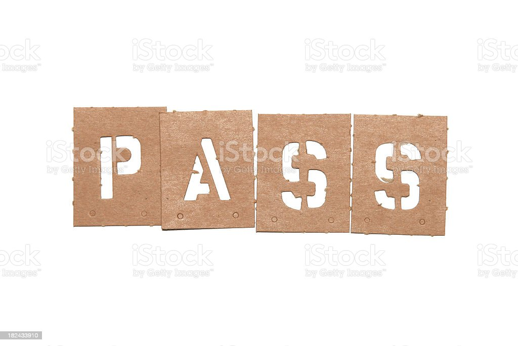 Pass Stencil Word royalty-free stock photo