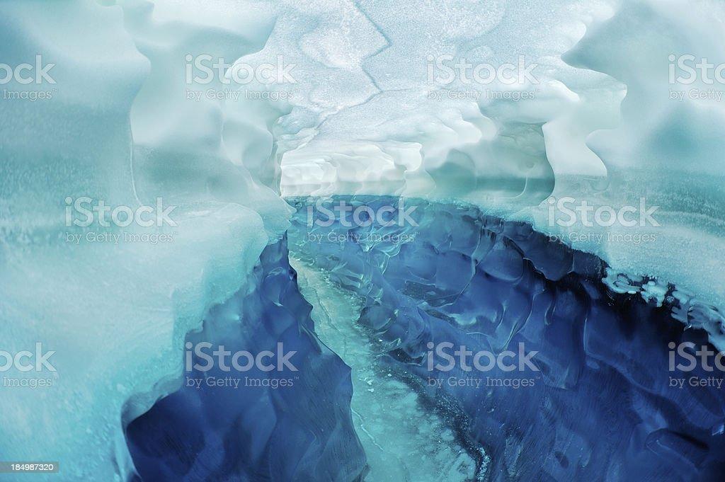 Pass Through The Glacier royalty-free stock photo