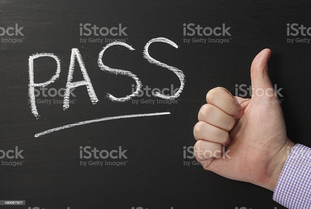 Pass Thumbs Up stock photo