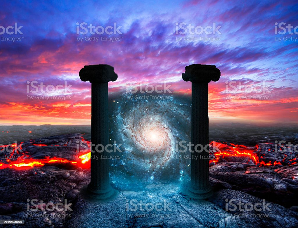 Pass to other world, from the dead. stock photo