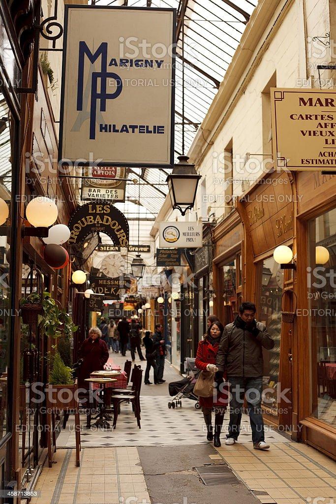 Passage des Panoramas in Paris stock photo