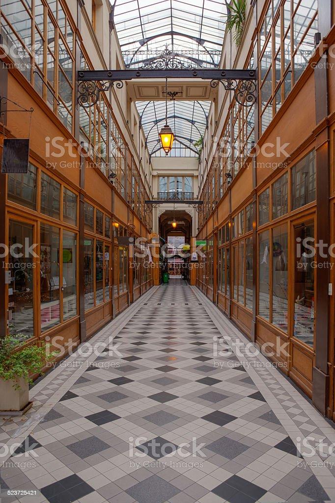 Passage du Grand Cerf stock photo