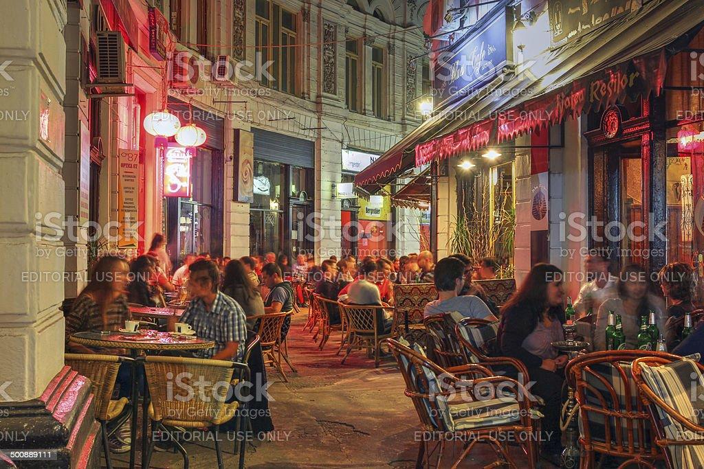 Passage in Bucharest, Romania stock photo