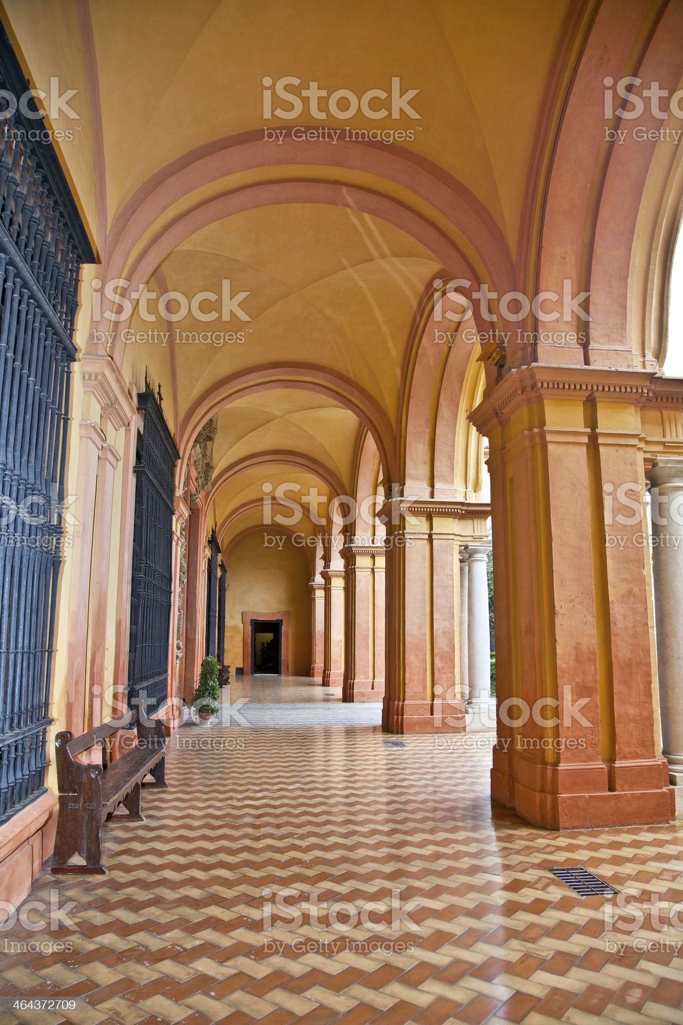Passage  in the Royal Alcazars of Seville, Spain. royalty-free stock photo