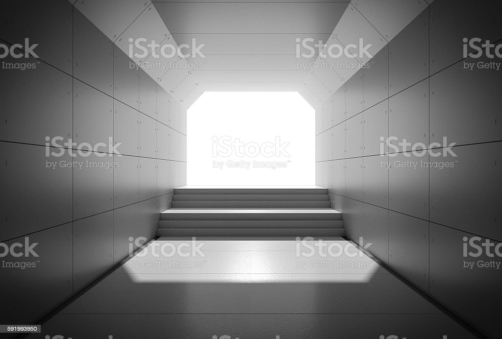Passage in the tunnel. stock photo