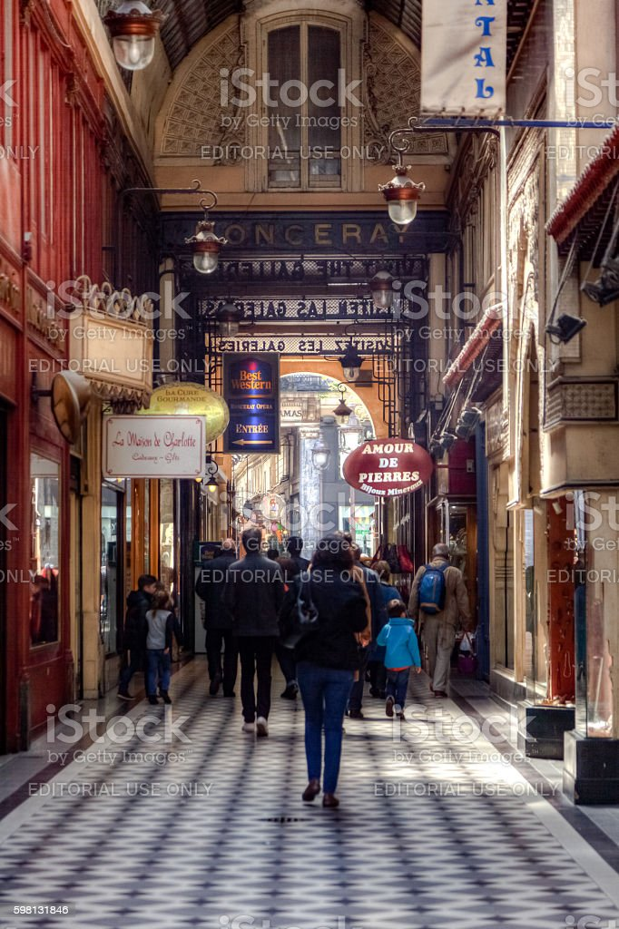 Passage Jouffroy stock photo