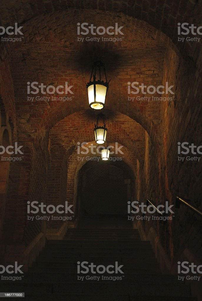 Passage near the Matthias Church Budapest royalty-free stock photo
