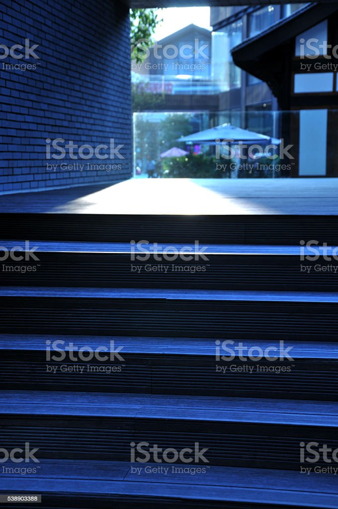 Passage of a house stock photo