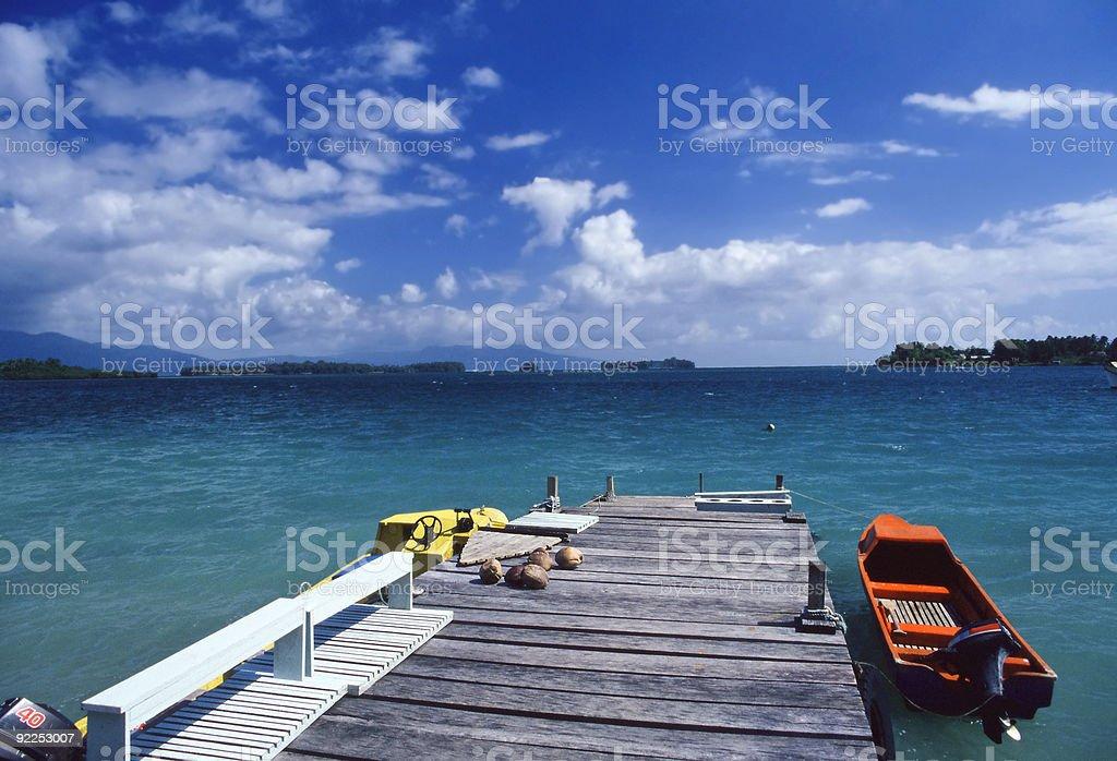 Passage to somewhere n Paradise stock photo