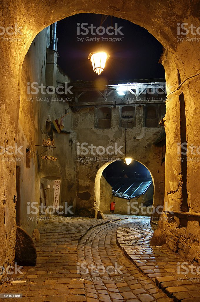 Passage to the dark ages stock photo