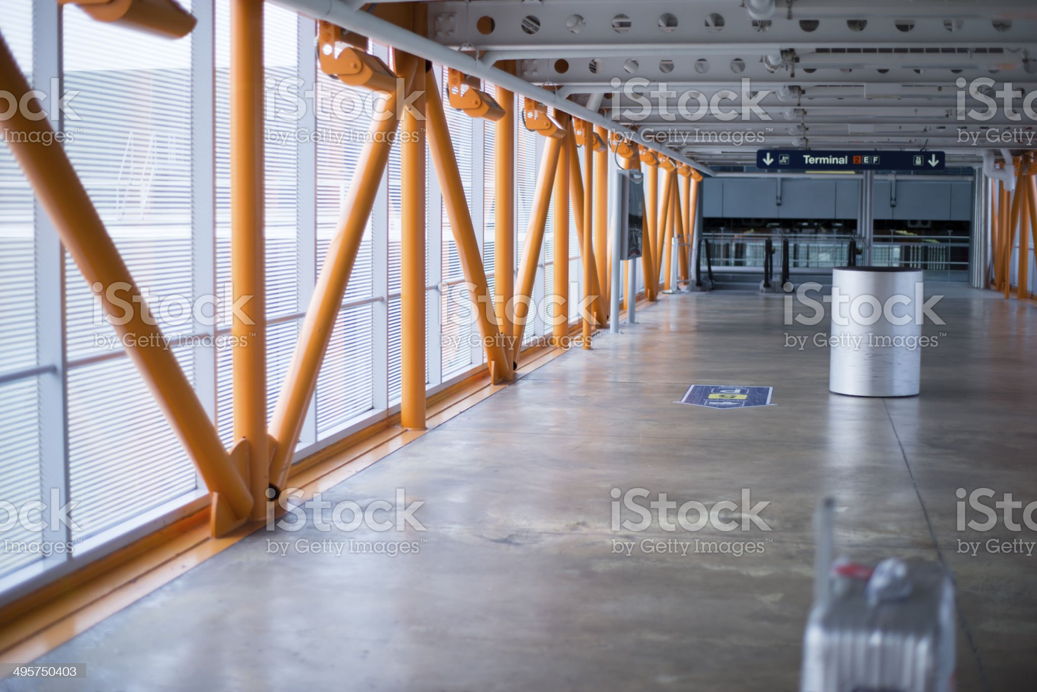 Passage towards the airplane royalty-free stock photo