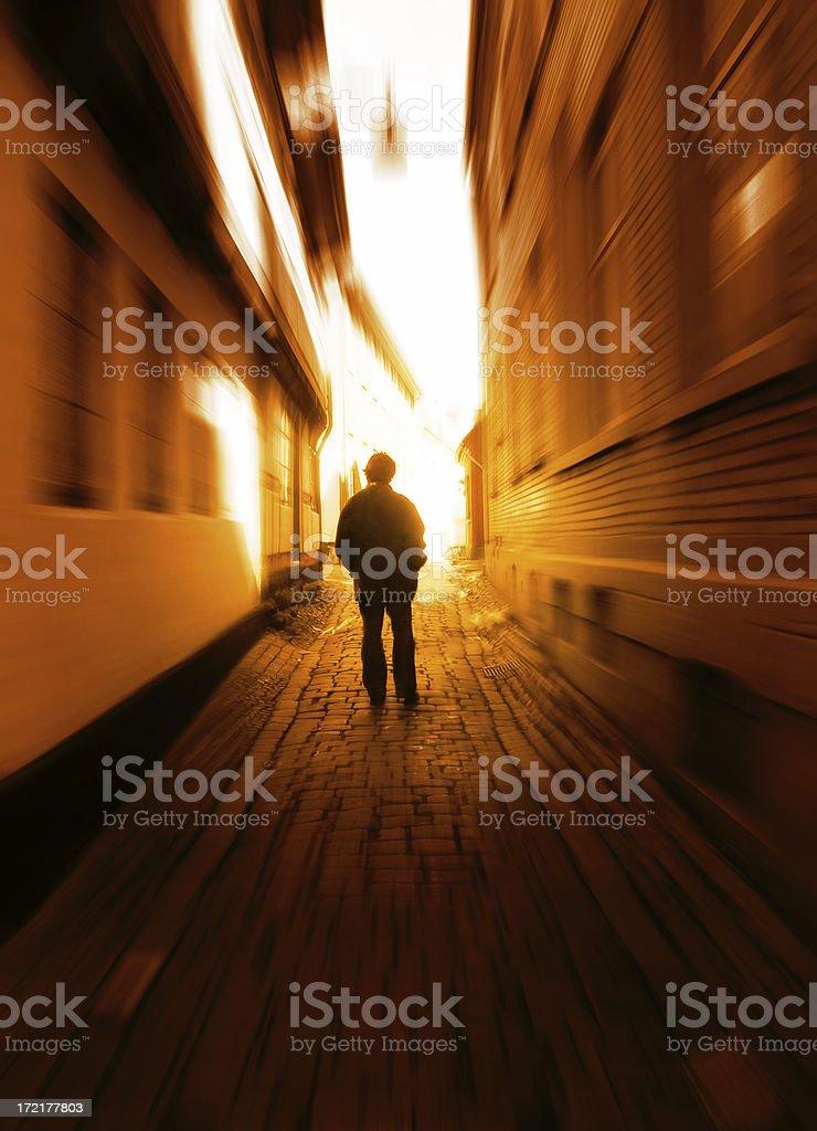 Passage towards the light royalty-free stock photo