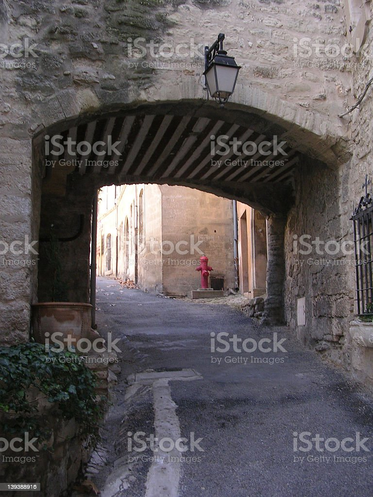 Passageway in Lacoste stock photo
