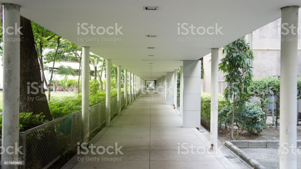 passageway outdoor stock photo