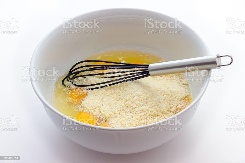 Passatelli cooking stock photo