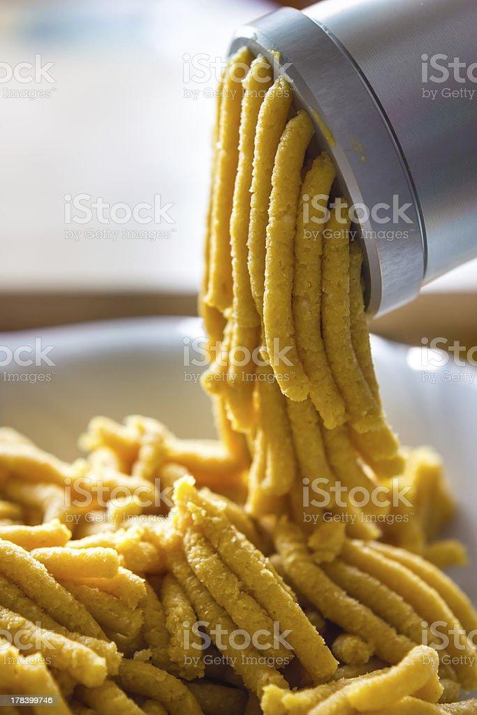 Passatelli from bologna stock photo
