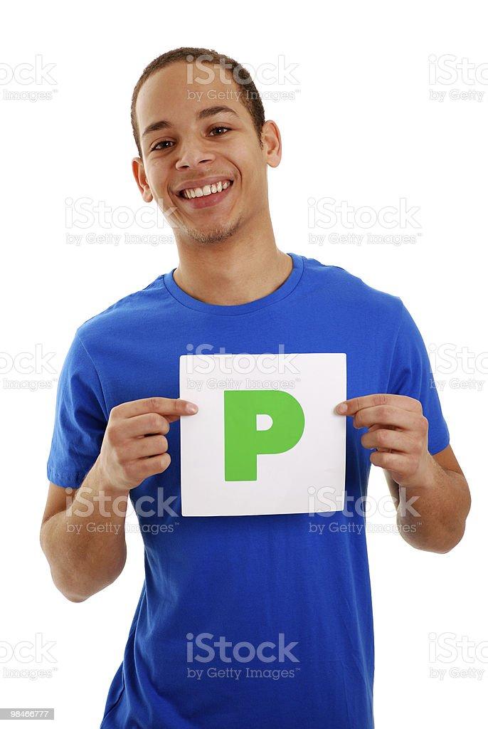 Passed driving exam stock photo