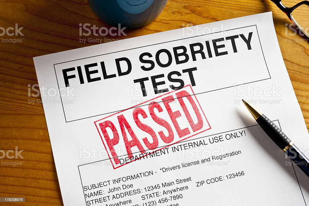 Passed Field Sobriety Test royalty-free stock photo