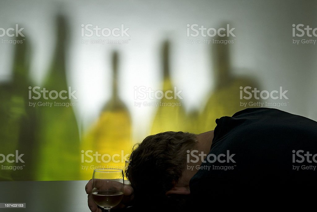 Passed Out at the Bar royalty-free stock photo