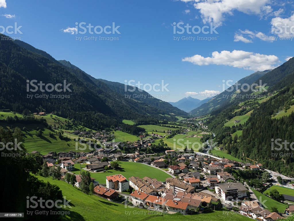 Passeier Valley in South Tyrol stock photo