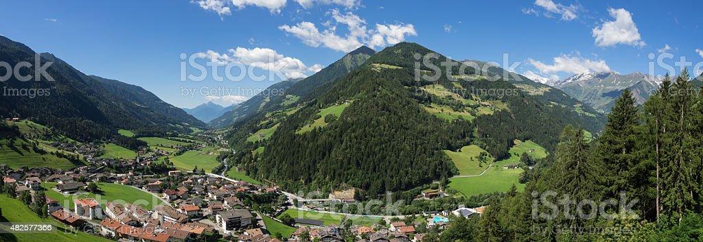 Passeier Valley panorama stock photo