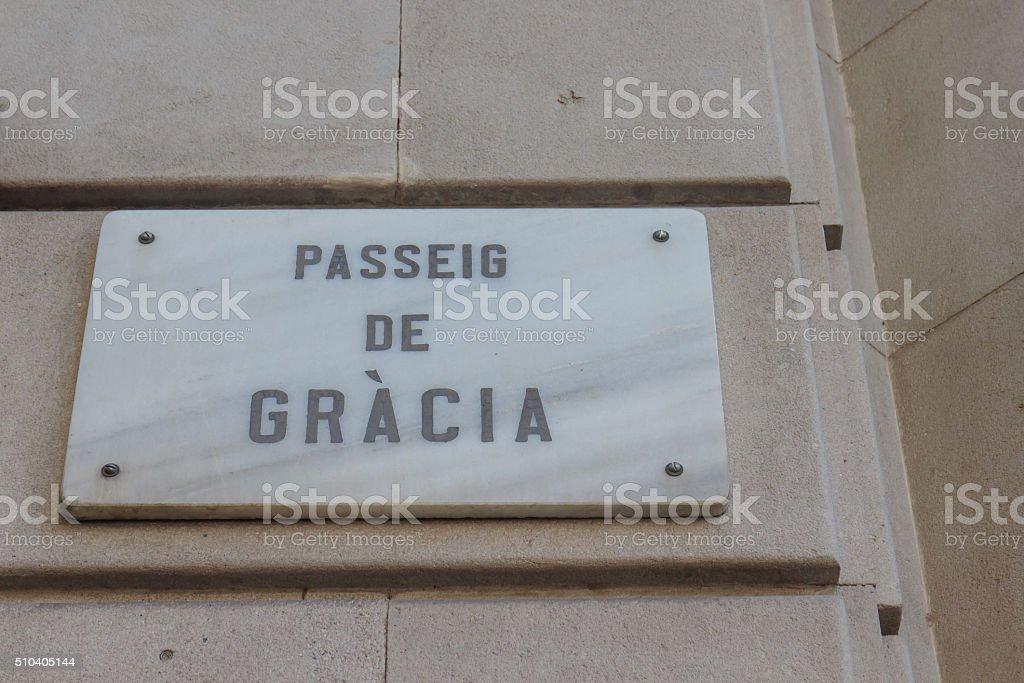 passeig de gracia, Barcelona, Spain stock photo