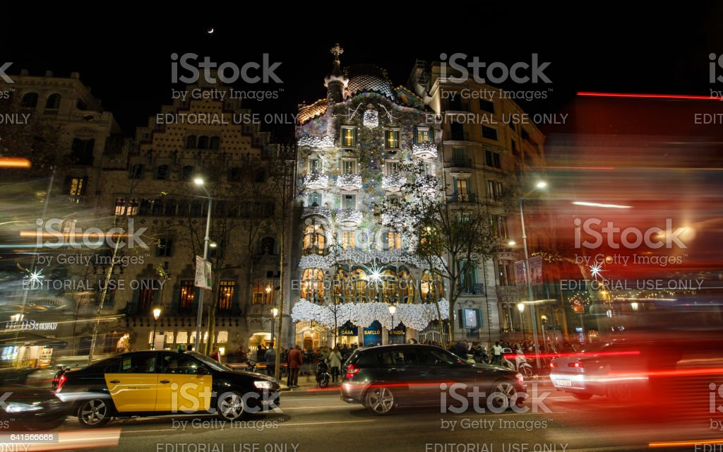 Passeig de Gracia street, Barcelona stock photo