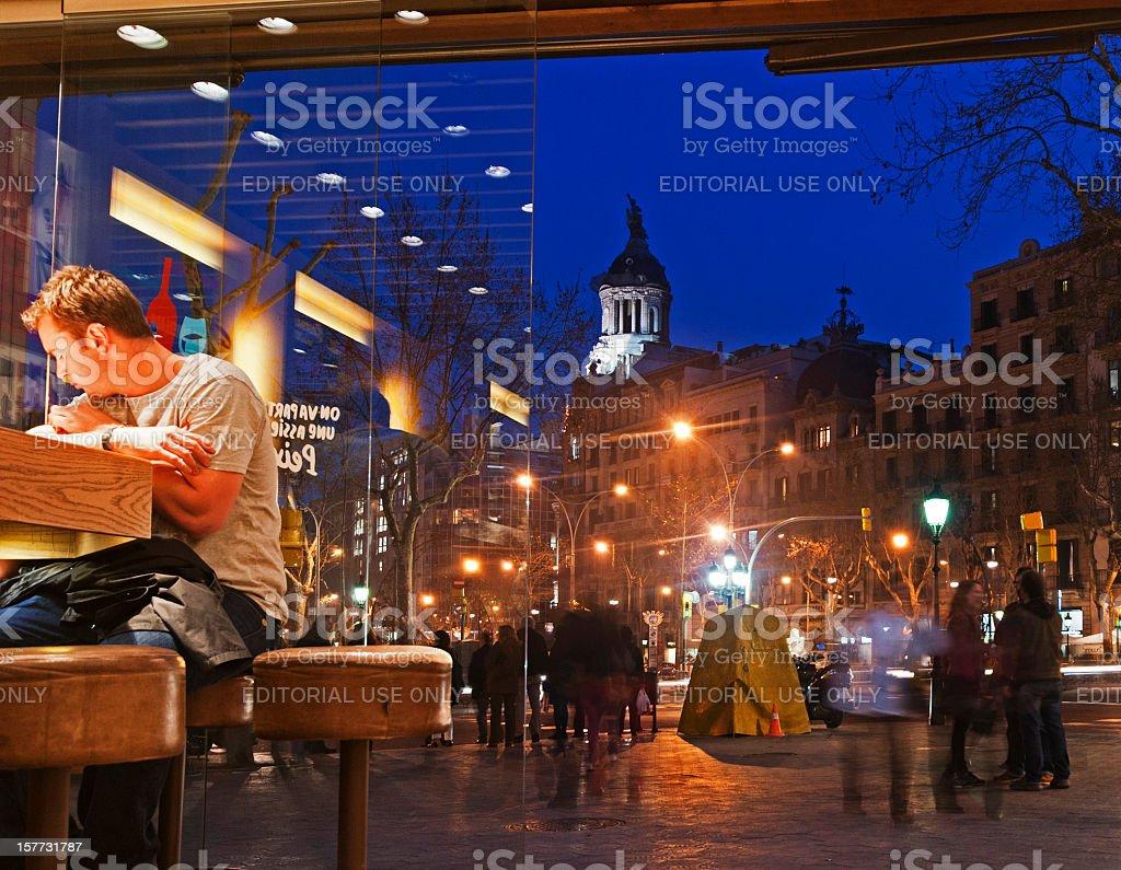 Passeig Gràcia stock photo